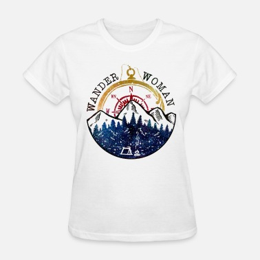 Woman Wander Woman Compass Hiking - Women's T-Shirt