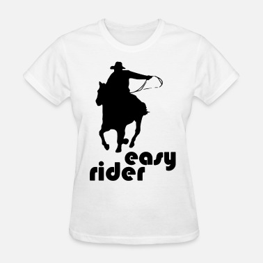 Riders Sportswear Easy Rider Cowboy Graphic Racecourse Racing Horse - Women's T-Shirt