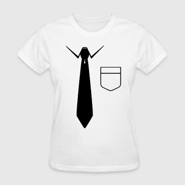Fake Suit Funny Redneck Office Attire Fake Suit Tee Tuxedo F - Women's T-Shirt