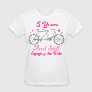 5th Anniversary Couples Gift - Women's T-Shirt