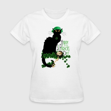 St Patrick's Day - Le Chat Noir  - Women's T-Shirt