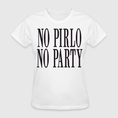 Italy Couples No Pirlo No Party Mens Print Andrea Juventus Italy - Women's T-Shirt