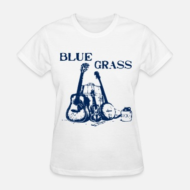 Banjo Music Funny Blue Grass Music Banjo Fiddle Guitar - Women's T-Shirt