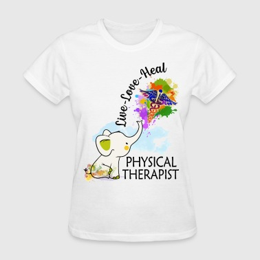 Sexy Elephant live love heal physical therapist elephent colors - Women's T-Shirt