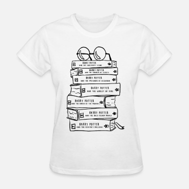 Teacher Harry Potter Harry Potter Book Lovers Stack of Books Baseball T - Women's T-Shirt