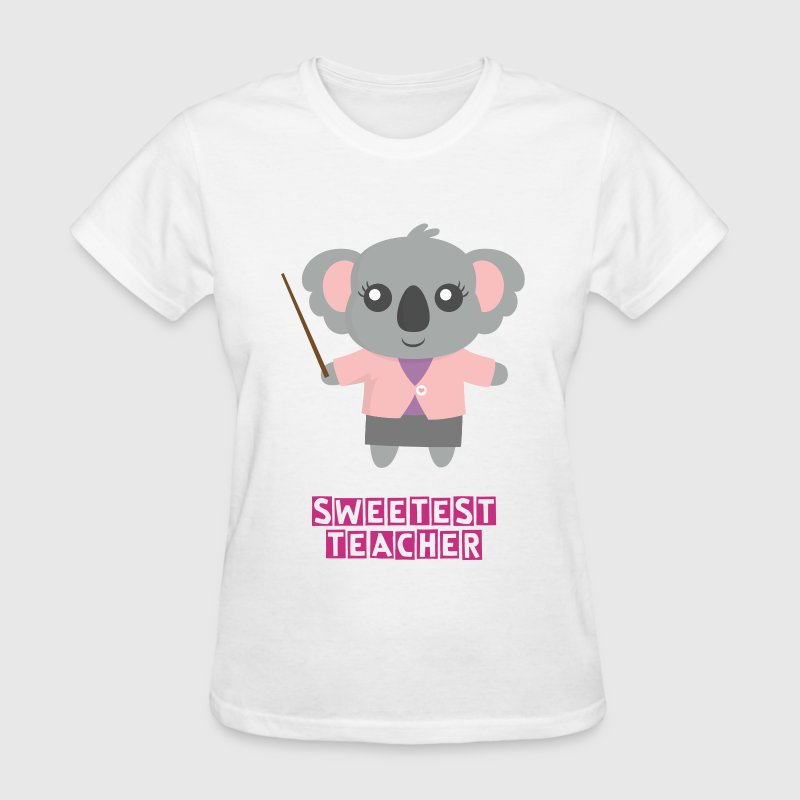 Cute Koala Bear Teacher - Women's T-Shirt