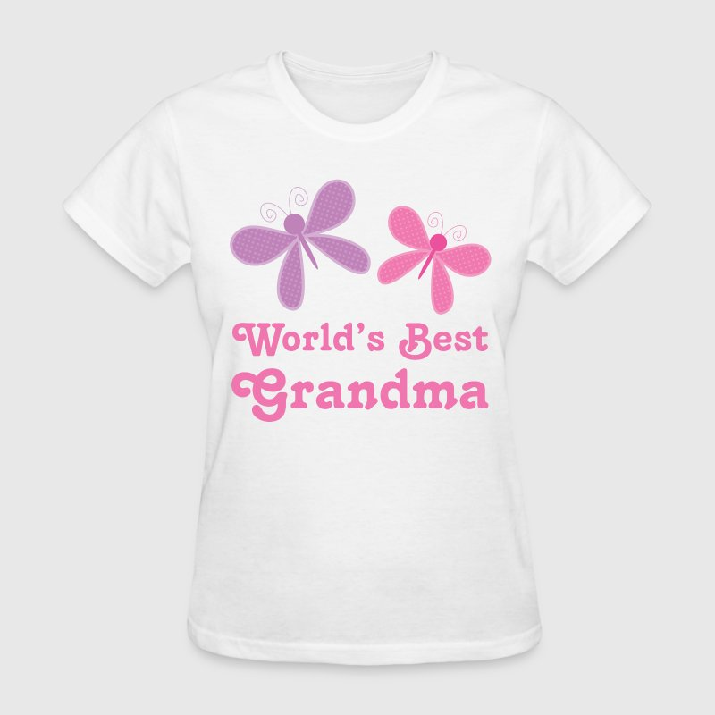 World's Best Grandma (butterfly) - Women's T-Shirt
