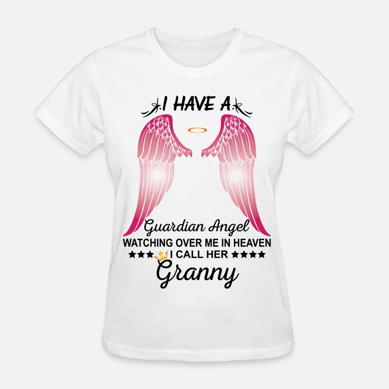 Granny T-Shirts - My Granny Is My Guardian Angel - Women's T-Shirt white