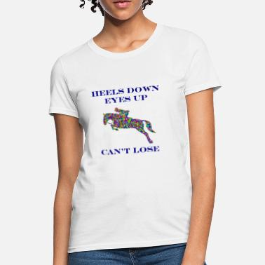 Eventing Jumper Horse Color - Women's T-Shirt