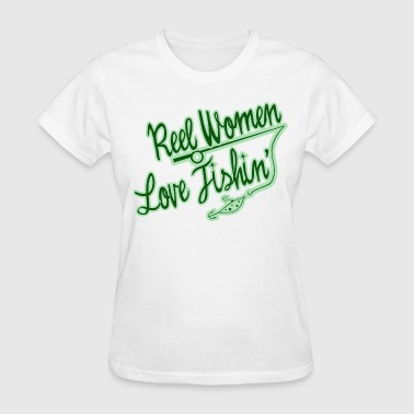 This Girl Loves To Fish Real women love fishing - Women's T-Shirt