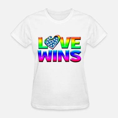 Love Wins Gay Marriage Love Wins Gay Marriage Equality - Women's T-Shirt