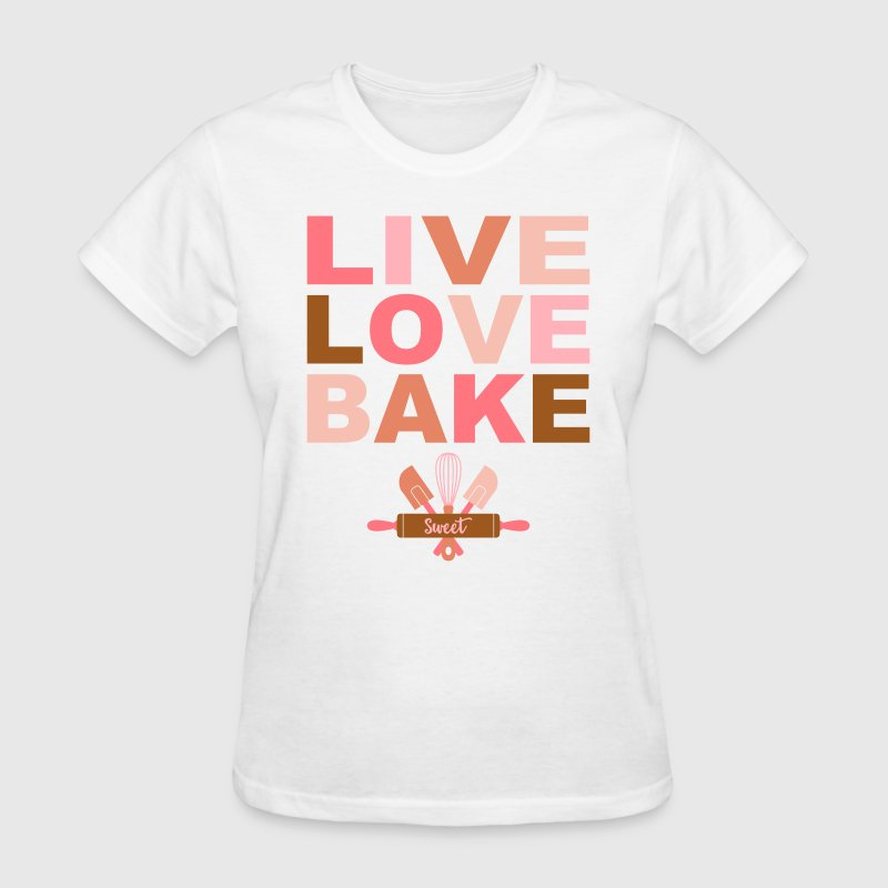 Live Love Bake - Women's T-Shirt
