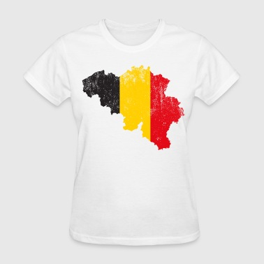 Belgian Map Flag - Women's T-Shirt