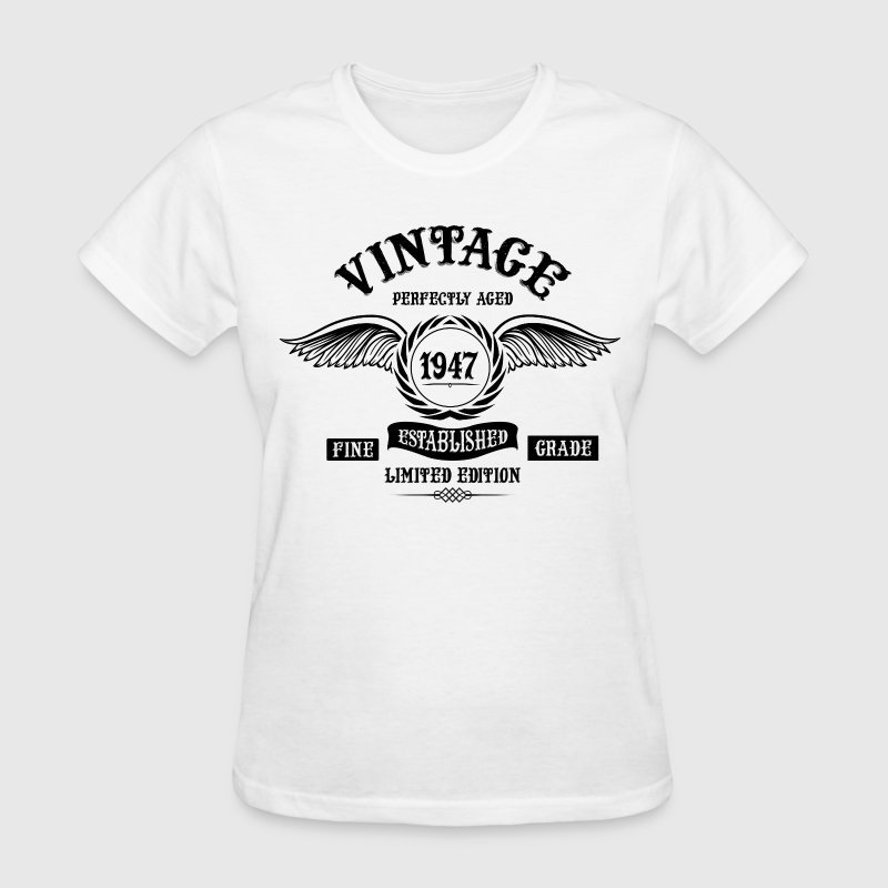 Vintage Perfectly Aged 1947 - Women's T-Shirt