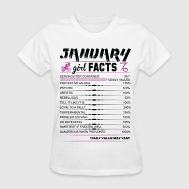 January Girl Facts Capricorn - Women's T-Shirt