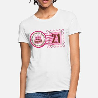 With Postage Stamp Design Birthday Stamp 21 - Women's T-Shirt