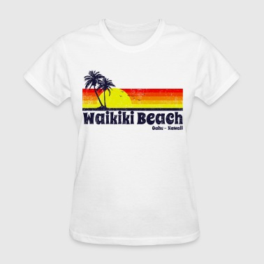 Hawaii Waikiki Beach Hawaii - Women's T-Shirt