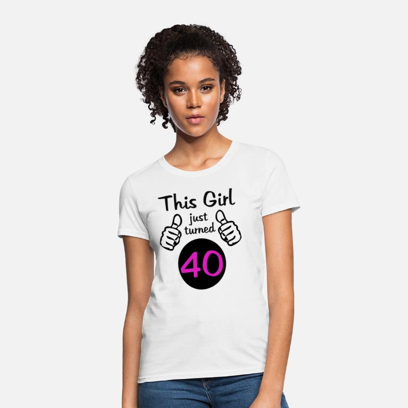 18a85d386 96+ 40th Birthday T Shirts For Her - Womens Tee Shirt Collection ...