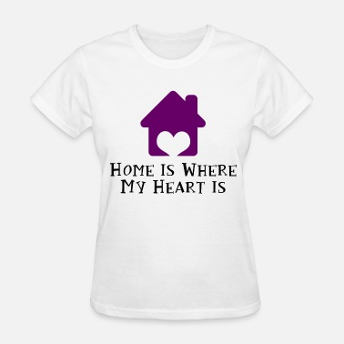 Home Is Where The Heart Is Home Is Where My Heart Is - Women's T-Shirt