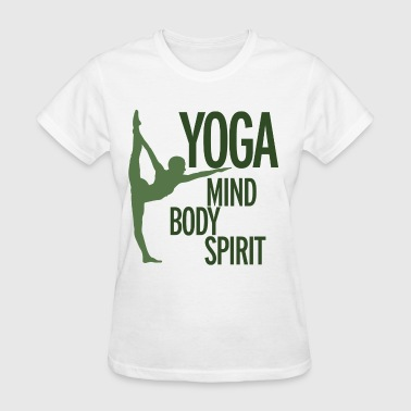 YOGA for mind body and spirit  - Women's T-Shirt