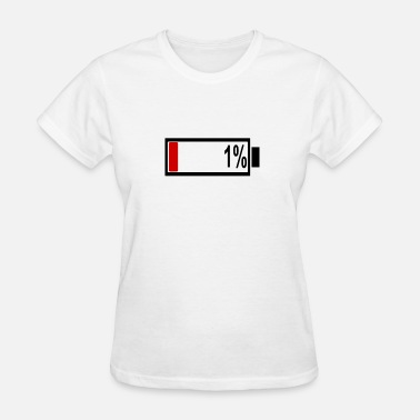 1 Percent almost empty - only 1 percent left - Women's T-Shirt