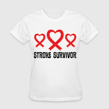 Stroke Survivor Awareness Support Ribbon - Women's T-Shirt