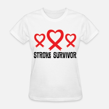 Stroke Stroke Survivor Awareness Support Ribbon - Women's T-Shirt