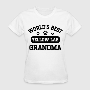 Yellow Lab Lover Yellow Lab Grandma - Women's T-Shirt