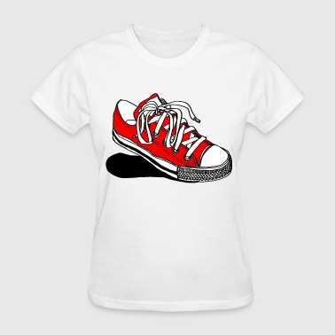 Red Converse Sneaker - Women's T-Shirt