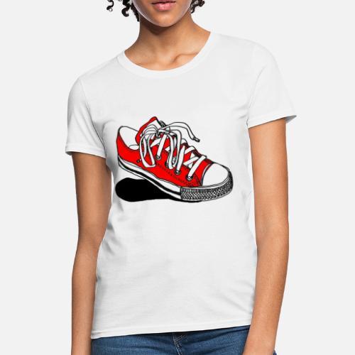 0b9a073bcb21 Red Converse Sneaker Women s T-Shirt