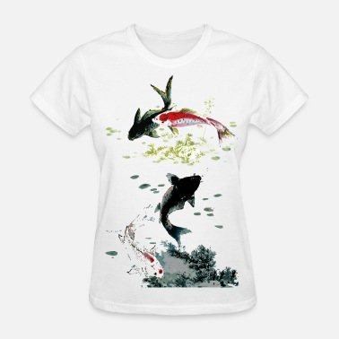Koi Fish Funny fish koi - Women's T-Shirt