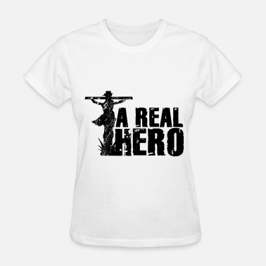 Jesus Hero Christian Gift Jesus, A Real Hero - Women's T-Shirt