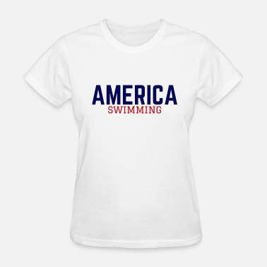Ilivelifeill Com AMERICA SWIMMING - Women's T-Shirt