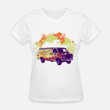 Retro Vintage Van - Women's T-Shirt