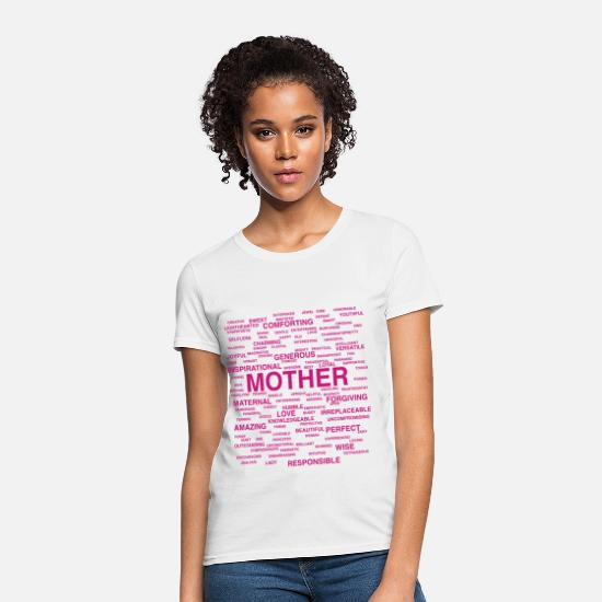 Day T-Shirts - Words About Mother - Women's T-Shirt white