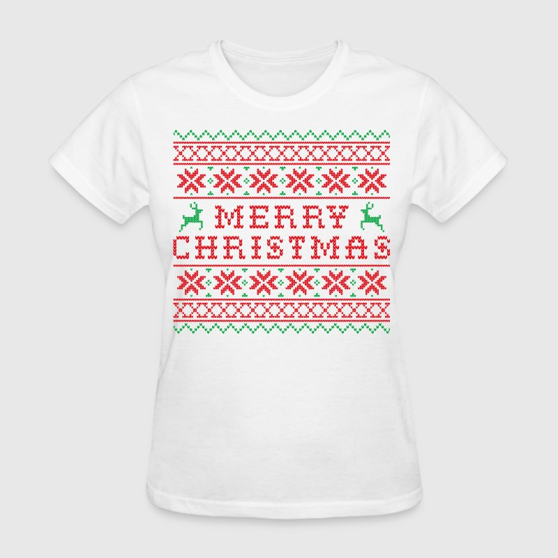 Ugly Merry Christmas Sweater - Women's T-Shirt