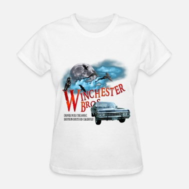 Winchesters Winchester Bros Driver picks the music shotgun shu - Women's T-Shirt