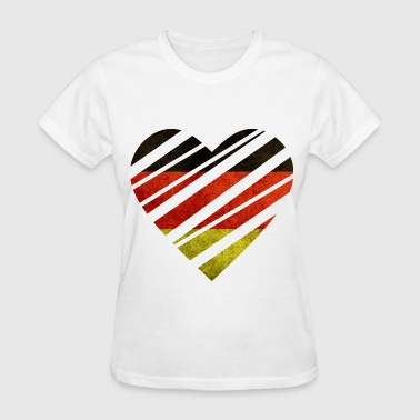 Germany Heart - Women's T-Shirt