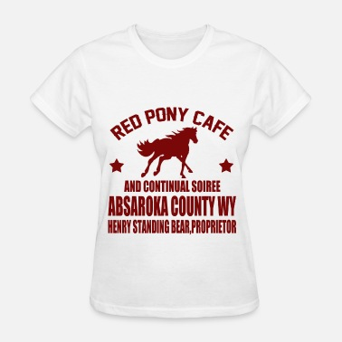 Red Pony Cafe RED 2323.png - Women's T-Shirt