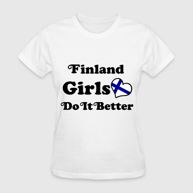 Finland Girls finland girl 117878.png - Women's T-Shirt