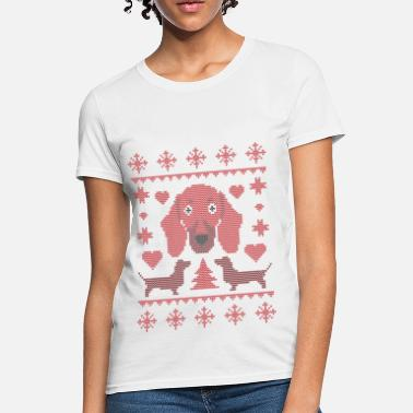 Dachshound Xmas - Women's T-Shirt