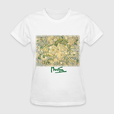 alphonse_mucha__flowers - Women's T-Shirt