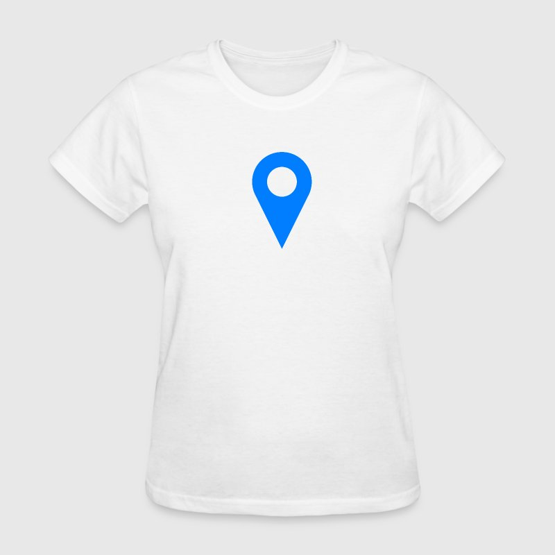 Location Icon Blue - Women's T-Shirt