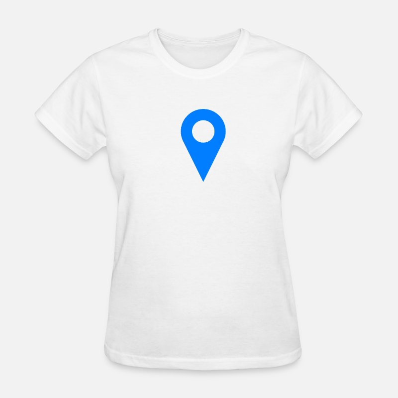 Geek T-Shirts - Location Icon Blue - Women's T-Shirt white