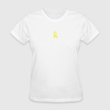 Yellow Ribbon Drawing - Women's T-Shirt