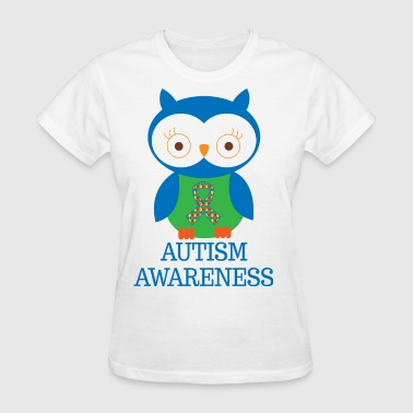 Autism Awareness Owl - Women's T-Shirt