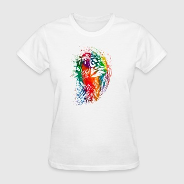 watercolor tiger colorful neon - Women's T-Shirt
