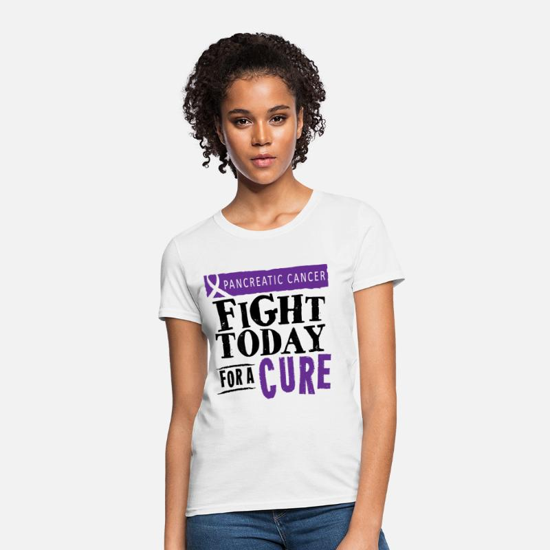 Awareness T-Shirts - Pancreatic Cancer Cure - Women's T-Shirt white