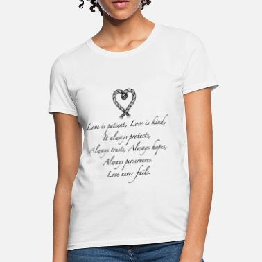Quotes Couples Love is patient..(with heart) - Women's T-Shirt
