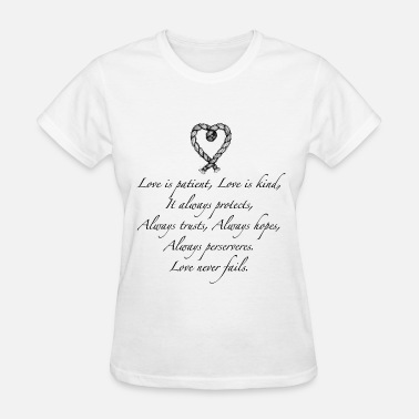 Couples Love is patient..(with heart) - Women's T-Shirt